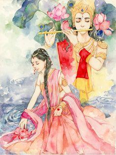 Radha Krishna by Snowcandy Radha Krishna Photo, Radha Krishna Love, Radhe Krishna, Krishna Leela, Radha Rani, Shree Krishna, Krishna Drawing, Krishna Painting, Lord Krishna Wallpapers