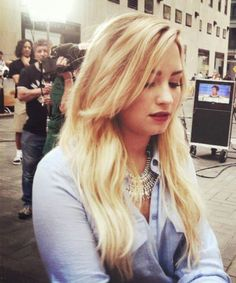 Demi Lovato. I wanna tell her how beautiful and inspiring she is in person.