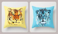 My Tiger Throw Pillow by nuam