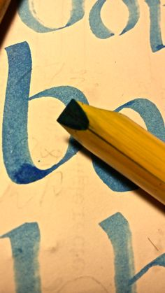 "Reed pen and letter ""b"" by Xavi Garcia Bosch"