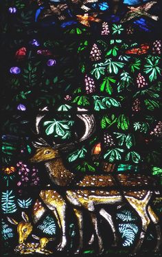 """from the """"East"""" window at St Chad's, Far Headingley, by Margaret Edith Rope…"""