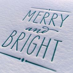 On Sale Almost sold out Letterpress Merry by TheBestDIYInvites