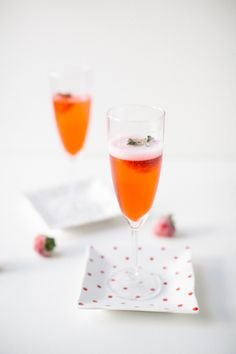 Eats // Red Currant Champagne