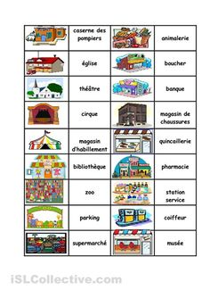 A collection of English ESL worksheets for home learning, online practice, distance learning and English classes to teach about domino, domino French Teacher, Teaching French, Teaching English, English Games, English Activities, Teaching Jobs, Student Learning, Learn French, Learn English