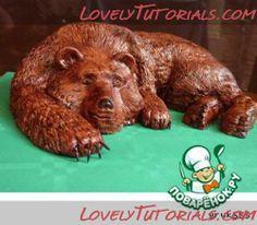 Carved lying Bear cake tutorial
