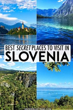 The best places to visit in Slovenia: Insider tips for avoiding the crowds Places to travel 2019 Looking for the best places to visit in Slovenia? Read insider tips for the best places to go in Slovenia with alternatives to Slovenia's most popular places. Europe Travel Guide, Europe Destinations, Travel Guides, Visit Slovenia, Slovenia Travel, Slovenia Tourism, Croatia Travel, Cool Places To Visit, Places To Travel