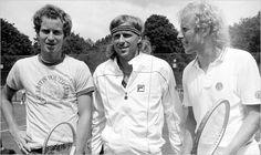 Tennis greats-- John McEnroe, Bjorn Borg and Vitas Gerulaitis