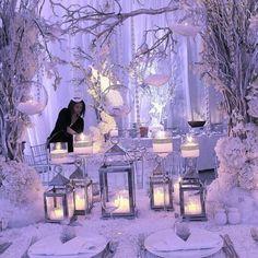 Winter wonderland wedding by @guerdydesign