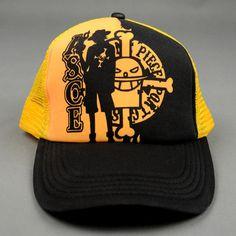 One Piece Black/Yellow Snapback Baseball Anime Hat - OtakuForest.com