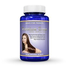 Premium Grow Hair Skin  Nails – The Best Vitamins For Hair Growth – Fast Hair Growth – Nail Growth Supplements – Vibrant Healthy Skin Growth – 6 mg's (6000 mcg) Vitamin b (Biotin) More than in a pill on some Amazon Biotin products! – Look And Feel Younger Again – Promotes Healthy Hair, Skin  Nails – 100% Satisfaction GUARANTEED!