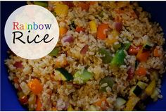 Eat the rainbow with this Quick and Easy Rainbow Rice!