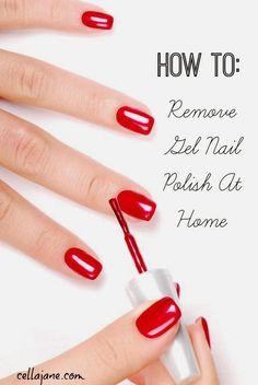 How To Remove Shellac Nail Polish (Cella Jane)