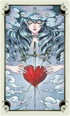::Tarot-Minor Arcana-3 of swords:: by rann-poisoncage.deviantart.com on @deviantART