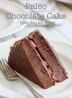 Paleo Chocolate Birthday Cake with Paleo Chocolate Frosting