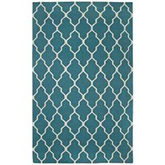 Lattice Collection Teal Flat Woven Area Rug                Lamps Plus  5x8 $300