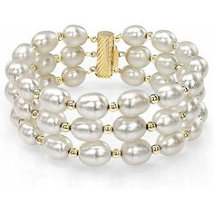 "Authentique 2 rangées 7-8 mm Naturel Rose Akoya Cultured Pearl Bracelet Bangle 7.5/"" AAA"