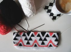 First time designing an ethnic pattern in tapestry crochet.