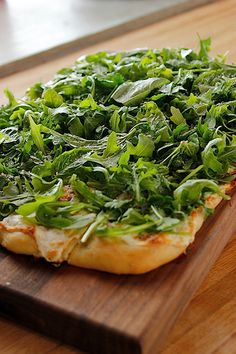 Fresh Herb Pizza   Tasty Kitchen: A Happy Recipe Community!      Recipe Description  Salad on a pizza! Serve as a main course or a yummy side to any meal. This is one of my favorite pizzas on Earth.