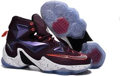 size 40 08377 6e0f2 Find 2016 Nike Mens Basketball Sneakers Lebron 13 XIII Purple Red Orange  White Black 388679 online or in Lebronshoes. Shop Top Brands and the latest  styles ...