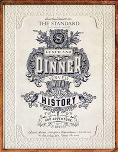 Vintage Font : Ad for The Standard Restaurant
