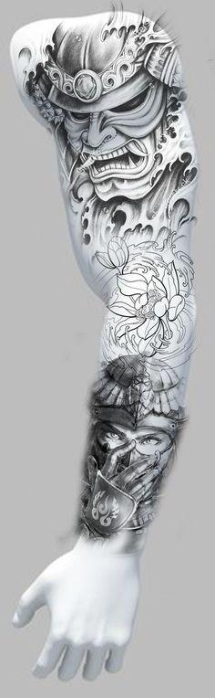 Tattoo leg piece sleeve Ideas for 2019 Tattoo leg piece sleeve Ideas fo. - Tattoo leg piece sleeve Ideas for 2019 Tattoo leg piece sleeve Ideas for 2019 T - Badass Tattoos, Fake Tattoos, Couple Tattoos, Trendy Tattoos, Leg Tattoos, Body Art Tattoos, Tattoos For Guys, Japanese Tattoo Designs, Japanese Tattoo Art