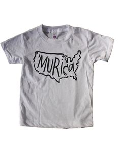 Murica shirt Fourth of July Shirt Infant Toddler Kids by MochiKids