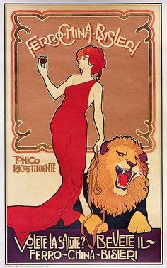 Image: - Poster advertising 'Bislieri Liqueur'