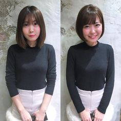 ショート/ボブ/美容師/似合わせ/小顔カット/山田さんはInstagramを利用しています:「before→after✨ . 乾かし方、前髪、毛先のカール感、メイクでこんなにイメージが変わります✨ . 見た目の80%が髪型で決まるとも言われています💁♂️ . スタイリングもとても大事です✨⭕️ . ぜひお悩みをご相談下さい🙇 .…」 Girl Haircuts, Makeup Transformation, Hair Designs, Cute Hairstyles, Teeth, Short Hair Styles, Hair Cuts, Hair Beauty, Turtle Neck