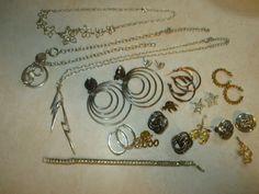 Jewelry Lot 16 piece of Vintage Modern Costume necklaces Avon hoop earrings NICE #LARGEMIXEDLOT