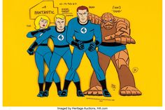 Animation Art:Color Model, Fantastic Four Original Hand-Painted Color Model Cel(Hanna-Barbera,