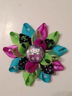 Ribbon Bow Barrettes | Hello Kitty Ribbon Bow/Barrette on Etsy, $5.00