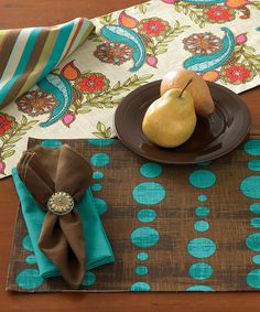 Loving this Paisley Peacock Place Mat - Set of Four on #zulily! #zulilyfinds