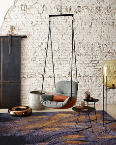 archiproducts - Swing and chill with the from. Sofa Design, Indoor Swing, Swing Design, Bedding Inspiration, Wood Chandelier, Modern Chandelier, Swing Seat, Swinging Chair, Hanging Swing Chair