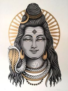 """Lord Shiva"""" by Cryptik. 18″ x 24″"""