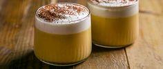 Maple pot de crème with bourbon cream.