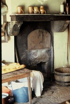 Rustic French farmhouse kitchen, Auvergne, France