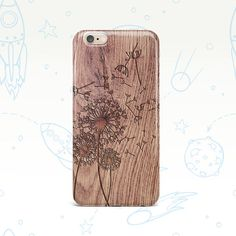 Wood Wooden iPhone Case Samsung Galaxy Case Samsung Galaxy S6 Case Samsung Galaxy S5 Case Dandelion Flower Phone iPhone 6 Case 0108