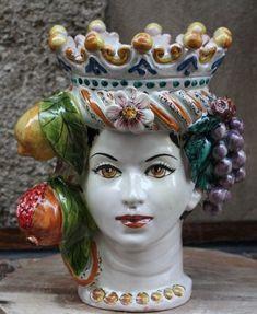 Head Planters, Ceramic Planters, Ceramic Pottery, Ceramic Art, Contemporary Decorative Art, Feminine Mystique, Naive Art, Antique Shops, Terracotta