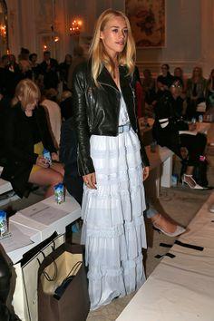 #romantic #dress #leather #jacket