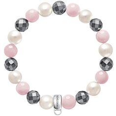 Thomas Sabo Charm Club Freshwater Pearl and Quartz Bracelet, Multi, M ($43) ❤ liked on Polyvore featuring jewelry, bracelets, thomas sabo, polish jewelry, cultured pearl jewelry, freshwater pearl jewelry and thomas sabo charms