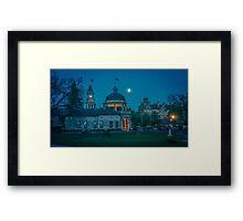 Moonrise Over Bendigo in October 2013 Framed Print
