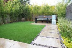 modern Bamboo trees garden design outdoor dining area
