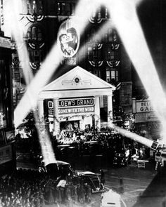 gone with the wind premier. 1939. My Granny was here and danced with Clark Gable