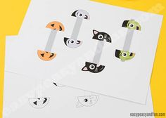 Halloween Monsters Paper Rings - Easy Peasy and Fun