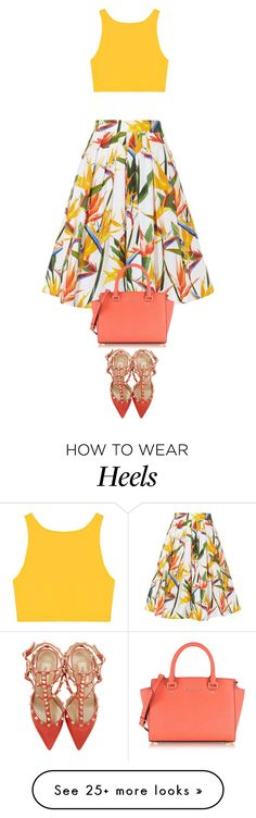 """street style"" by ecem1 on Polyvore featuring Karen Millen, Valentino and Michael Kors"