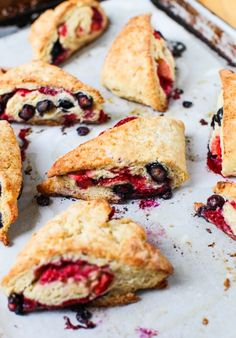 Triple Berry Scones || Simple Bites #baking #breakfast