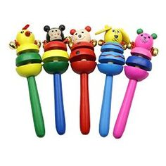 Juanshop Funny Cute Baby Cartoon Animal Wooden Bell Musical Developmental Instrument Toy. 3 to 36 months old. The Baby Blog: Babies Developmental Stages-The First Year
