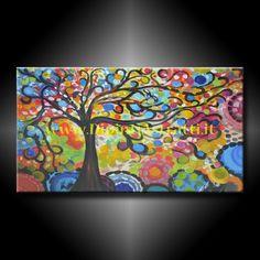 Dipinto a mano su tela con albero della vita colorato, rappresentato in stile moderno contemporaneo. Un ottima soluzione per arredare e completare la tua casa. http://www.dipintiastratti.it/DIPINTI-ASTRATTI-E-MODERNI/Quadri-su-unica-tela/1000-QUADRO-SU-TELA-COLORATO-ALBERO-DELLA-VITA.html