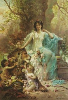 The taming of Love by Hans Zatzka