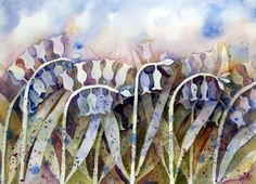Harebells, Watercolours by Irene Wilson | Artfinder